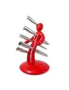 Soporte cuchillos voodoo rojo