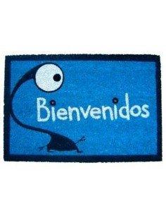 Felpudo Bienvenidos Azul