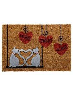 Felpudo Gatos Corazón