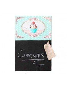 Pizarra cupcakes