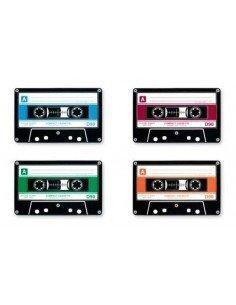 Set 4 Posavasos Cassette