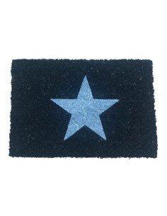 Felpudo Negro Estrella