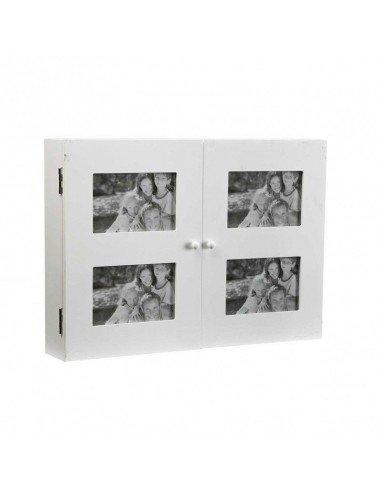Cubrecontador portafotos blanco