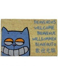 Felpudo Gato Bienvenidos