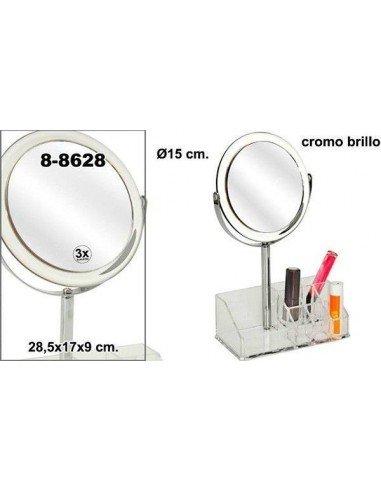 Organizador de cosméticos con espejo