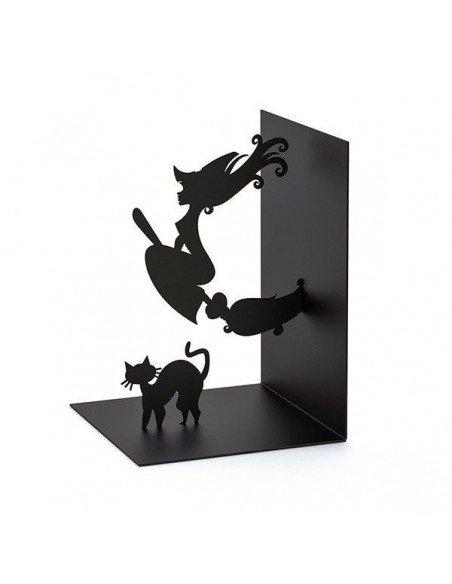 Sujetalibros Bruja y Gato