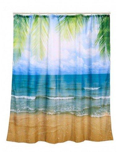Cortina ba o playa cortinas de ba o originales - Cortinas para banera ...
