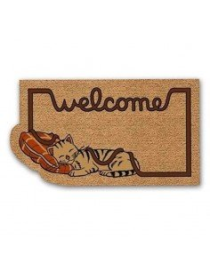 Felpudo Gato Welcome