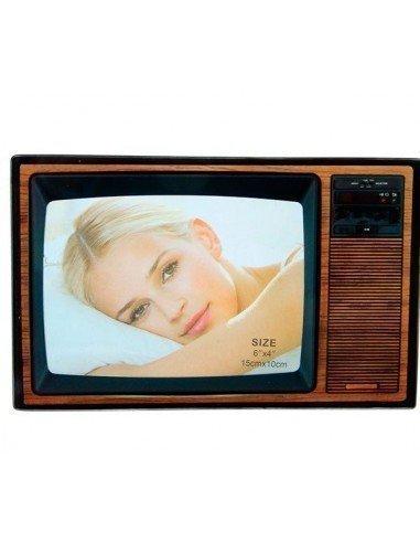 Portafotos televisión retro