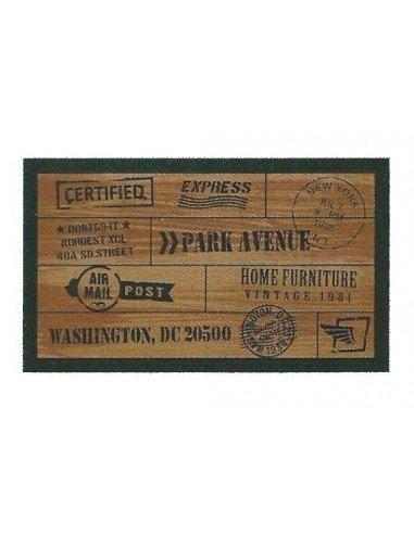 Felpudo Wood Postal