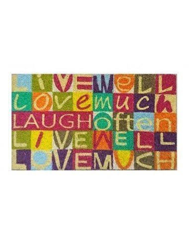 Felpudo Live Love Laugh