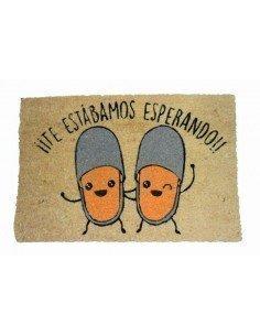 Felpudo Esperando Zapatillas