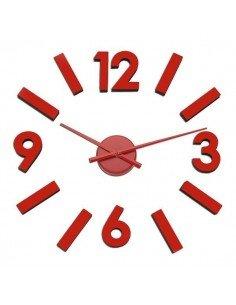 Reloj Números Adhesivos Rojo