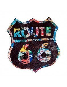 Perchero Cuadro Ruta 66