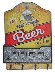Abrebotellas Colgador Cerveza Amarillo