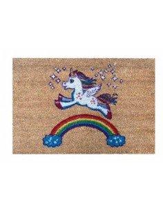 Felpudo Unicornio Arco Iris