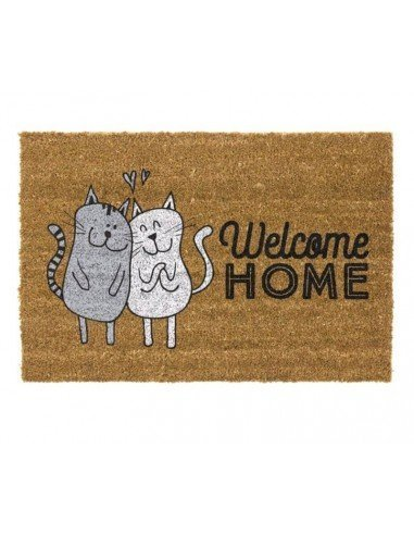 Felpudo Gatos Welcome Home