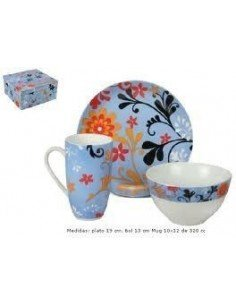 Set desayuno porcelana