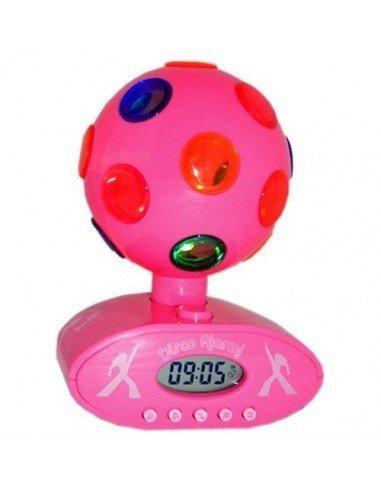Despertador Bola Discoteca Rosa