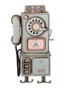 Cuelgallaves Teléfono Beige