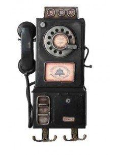 Cuelgallaves Teléfono Negro