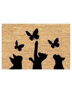 Felpudo Gatos y Mariposas