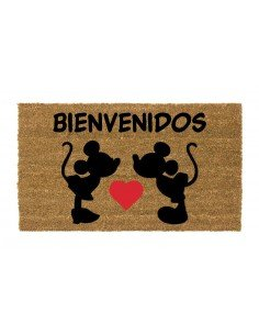 Felpudo Mickey y Minnie
