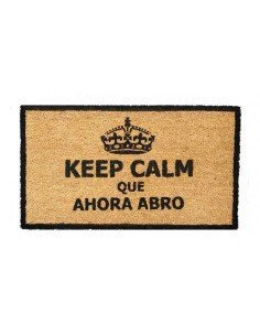 Felpudo Keep Calm Negro