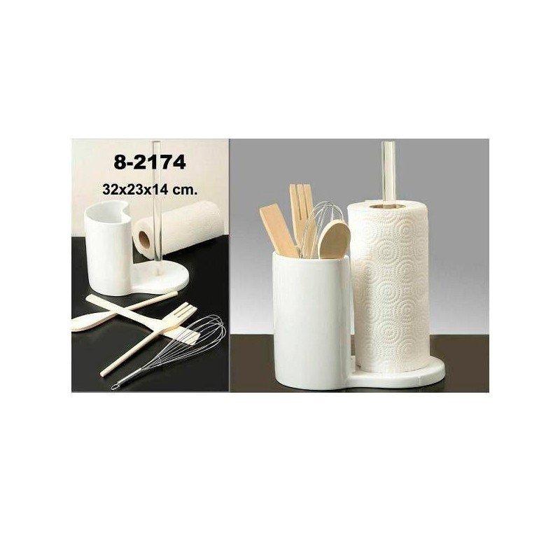 Set portarrollo utensilios de cocina zatton regalos for Utensilios de cocina originales