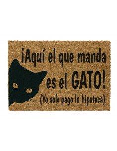 Felpudo Aquí Manda El Gato