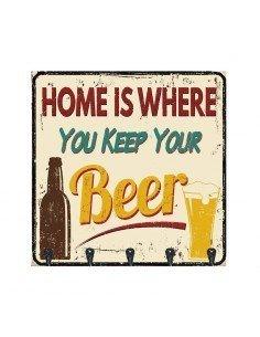 Cuelga LLaves Cerveza Vintage