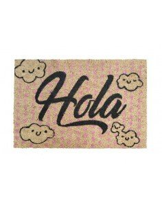 Felpudo Hola Nubes Rosa
