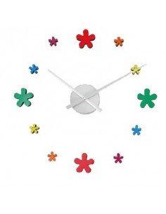 Reloj Adhesivo Flores