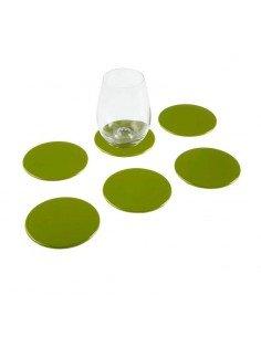 Set 6 Posavasos Verdes