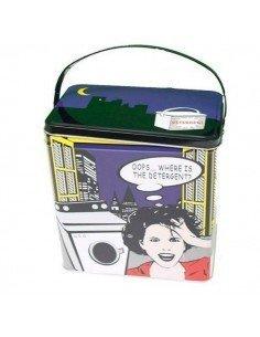 Caja pinzas / detergente cómic