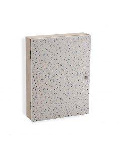 Caja LLaves Terrazo Gris
