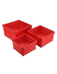 Set 3 Cestas Rojas