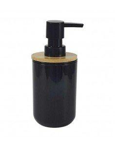 Dispensador Jabón Negro Bambu