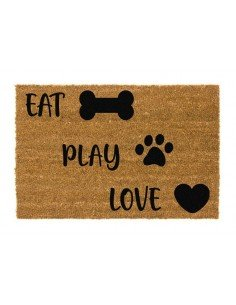 Felpudo Perros Eat Play Love