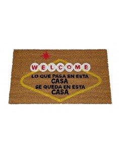 Felpudo Welcome Lo Que Pasa