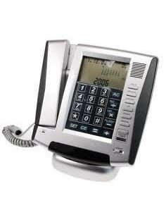 Teléfono digital azul / plateado