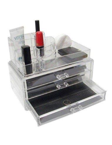 Organizador de maquillaje con 3 cajones